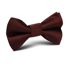 Cocoa Brown Satin Kids Bow Tie