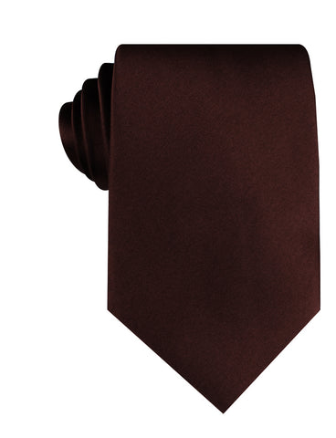 Cocoa Brown Satin Necktie