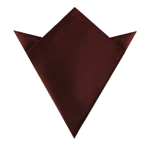 Cocoa Brown Satin Pocket Square