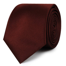 Cocoa Brown Satin Skinny Tie