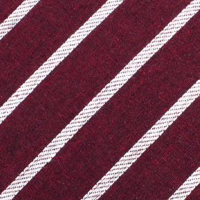 Columbus Burnt Burgundy Stripe Linen Kids Bow Tie