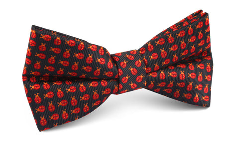 Coquelicot Red Beetle Bow Tie