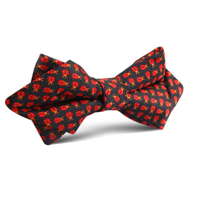 Coquelicot Red Beetle Diamond Bow Tie
