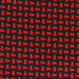 Coquelicot Red Beetle Fabric Kids Diamond Bow Tie
