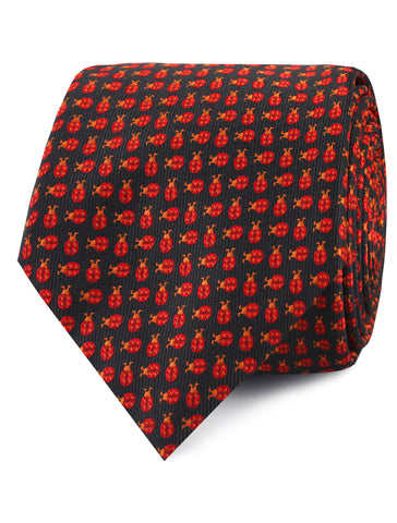 Coquelicot Red Beetle Tie