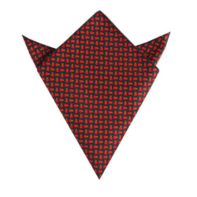 Coquelicot Red Beetle Pocket Square