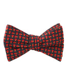 Coquelicot Red Beetle Self Tied Bowtie