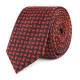 Coquelicot Red Beetle Slim Tie