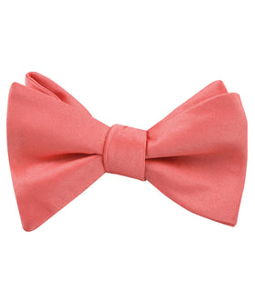 Coral Reef Satin Self Bow Tie