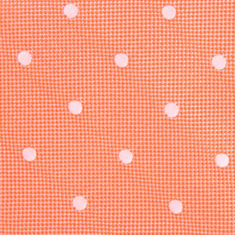 Coral Orange with White Polka Dots Kids Bow Tie