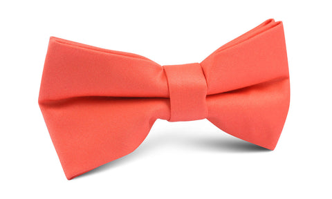 Coral Pink Cotton Bow Tie