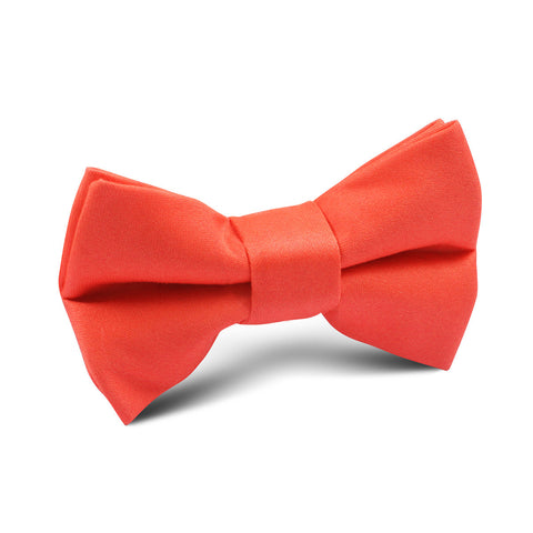 Coral Pink Cotton Kids Bow Tie