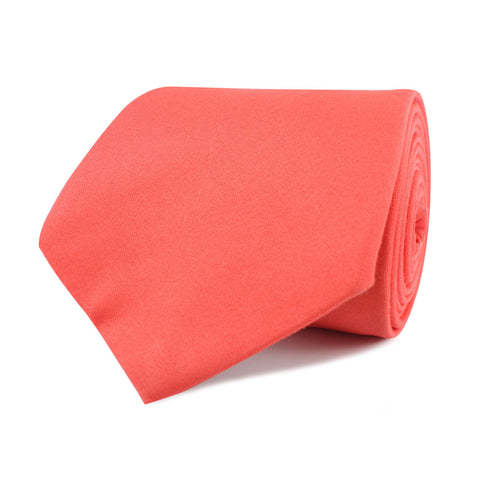 Coral Pink Cotton Necktie