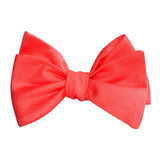 Coral Pink Cotton Self Tie Bow Tie 1