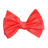 Coral Pink Cotton Self Tie Bow Tie 2