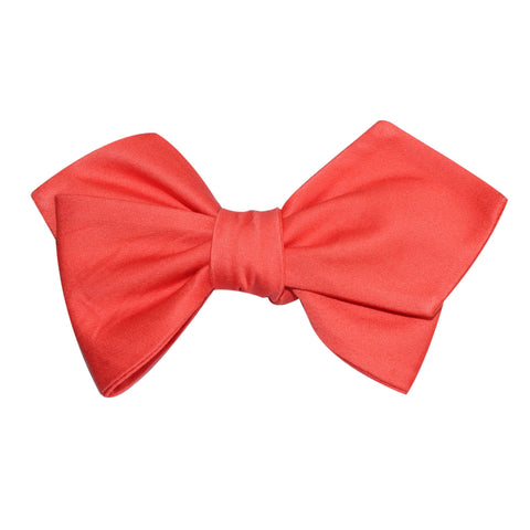 Coral Pink Cotton Self Tie Diamond Tip Bow Tie