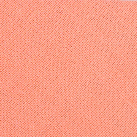 Coral Pink Linen Bow Tie
