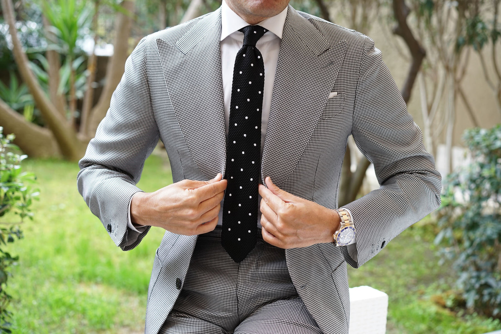 Corax Black Knitted Tie