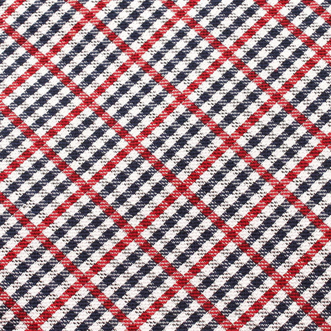 Crimson Gingham Bow Tie