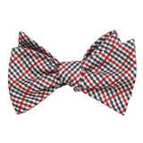 Crimson Gingham Self Tie Bow Tie Self tied knot by OTAA