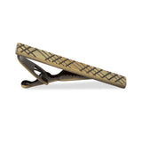 Crosshatch Brass Tie Bars