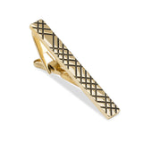 Crosshatch Gold Tie Bar