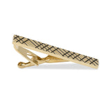 Crosshatch Gold Tie Bars