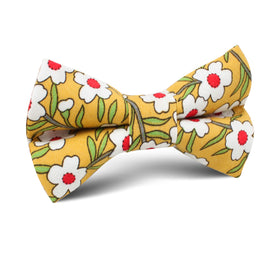 Cuban Marigold Floral Kids Bow Tie