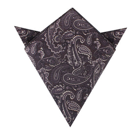 Culaccino Kettle Black Paisley Pocket Square
