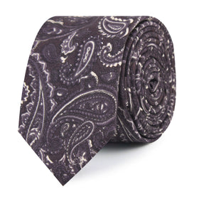 Culaccino Kettle Black Paisley Skinny Tie