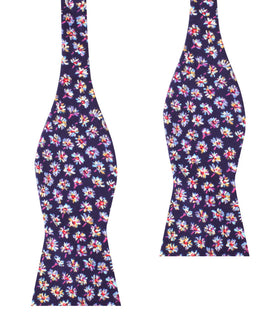 Culiacán Purple Floral Self Bow Tie
