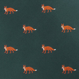 Culpeo Fox Dark Green Bow Tie