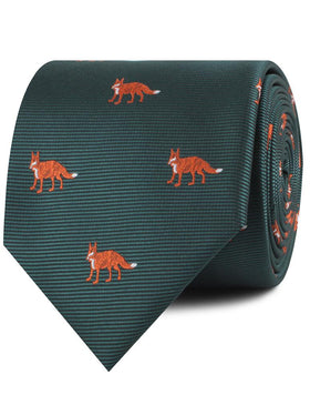 Culpeo Fox Dark Green Necktie