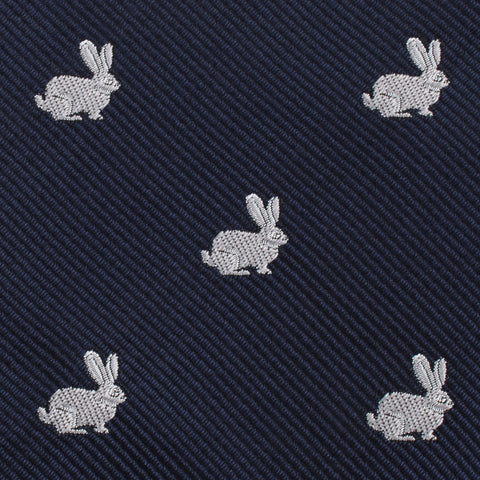 Curious Rabbit Pocket Square