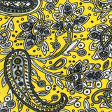 Cyrus Yellow Paisley Skinny Tie Fabric