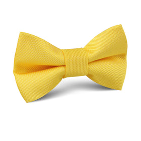 Daffodil Tuscan Sun Yellow Weave Kids Bow Tie