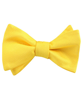 Daffodil Tuscan Sun Yellow Weave Self Bow Tie