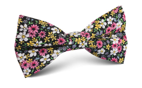 Daffodil Floral Bow Tie