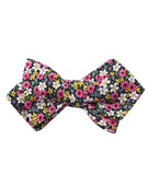 Daffodil Floral Diamond Self Bowtie