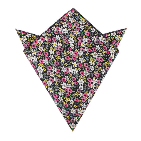 Daffodil Floral Pocket Square