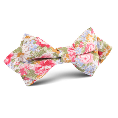 Daisy Floral Diamond Bow Tie