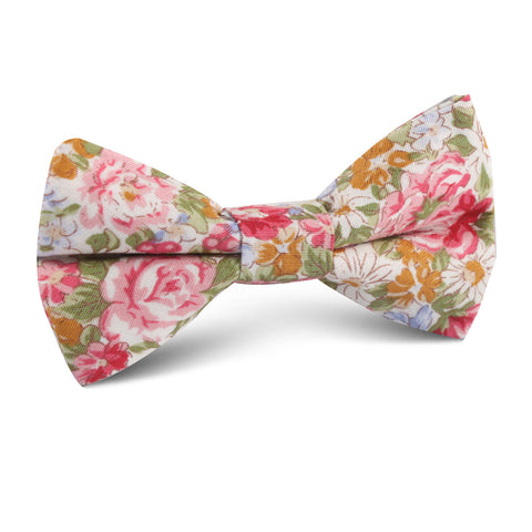 Daisy Floral Kids Bow Tie