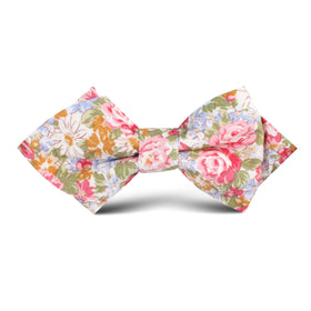 Daisy Floral Kids Diamond Bow Tie