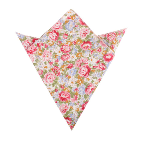 Daisy Floral Pocket Square