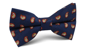 Darius the Great Midnight Blue Paisley Bow Tie