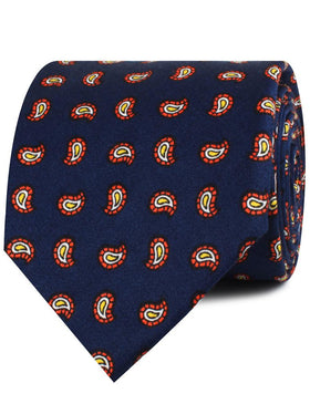 Darius the Great Midnight Blue Paisley Necktie