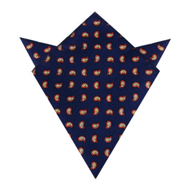 Darius the Great Midnight Blue Paisley Pocket Square
