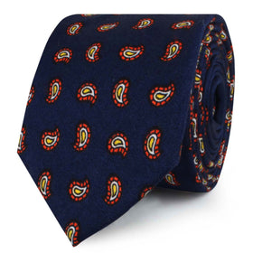 Darius the Great Midnight Blue Paisley Skinny Tie