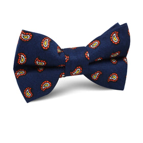 Darius the Great Midnight Blue Paisley Kids Bow Tie