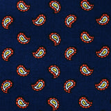 Darius the Great Midnight Blue Paisley Self Bow Tie Fabric